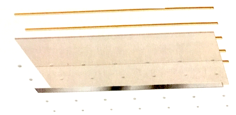 Illustration d'un plafond en plaques de plâtre sur lattes bois