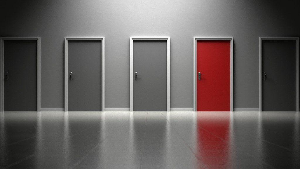 Perspective de portes palières d'appartements