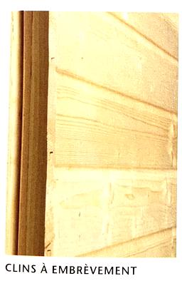 Illustration d'un mur extérieur recouvert de clins bois à embrèvement