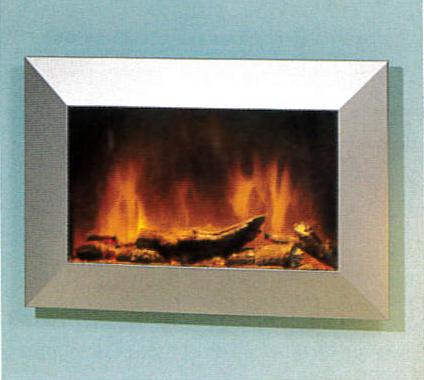 Foyer de cheminée encastré moderne