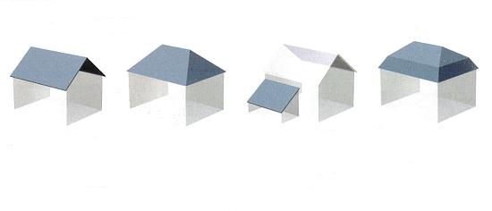 Croquis illustrant les différentes pentes de toits