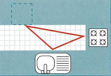 Schéma d'aménagement d'éléments en U d'une cuisine