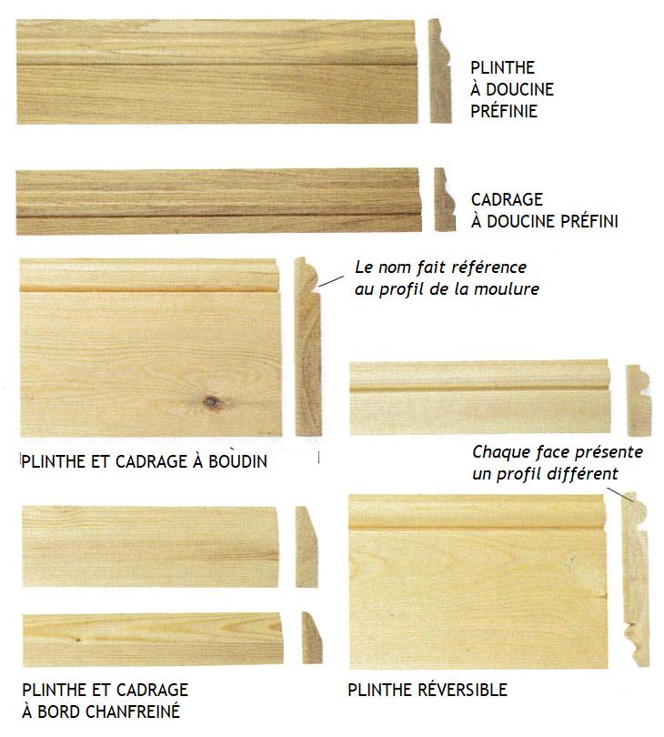 Cadrages et plinthes en bois