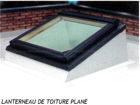 Lanterneau de toiture plane