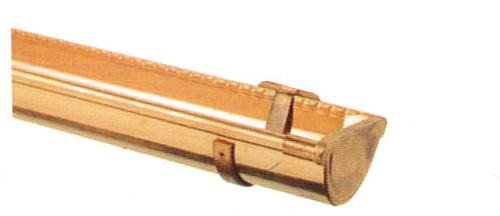 Section de gouttière en cuivre