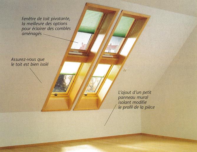 Fenêtre de toit pivotante