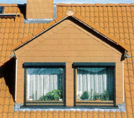 Lucarnes d'une maison individuelle