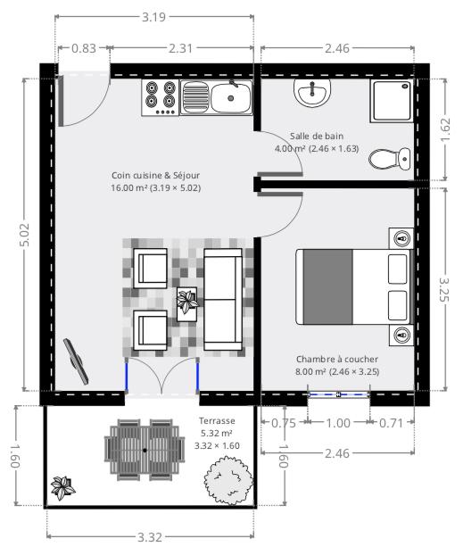Plan type non contractuel offre promotionnelle - Rénovez votre appartement pour 5900 €